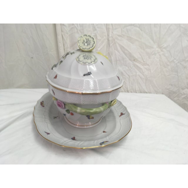 Herend Herend Rothschild Tureen W/ Underplate For Sale - Image 4 of 13