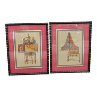 Antique French Detailed Etchings - A Pair For Sale