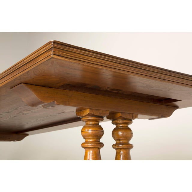 French Inspired Walnut Dining Table For Sale - Image 9 of 11