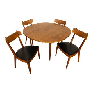 Drexel Declaration Party Dining Table With 4 Matching Side Chairs For Sale