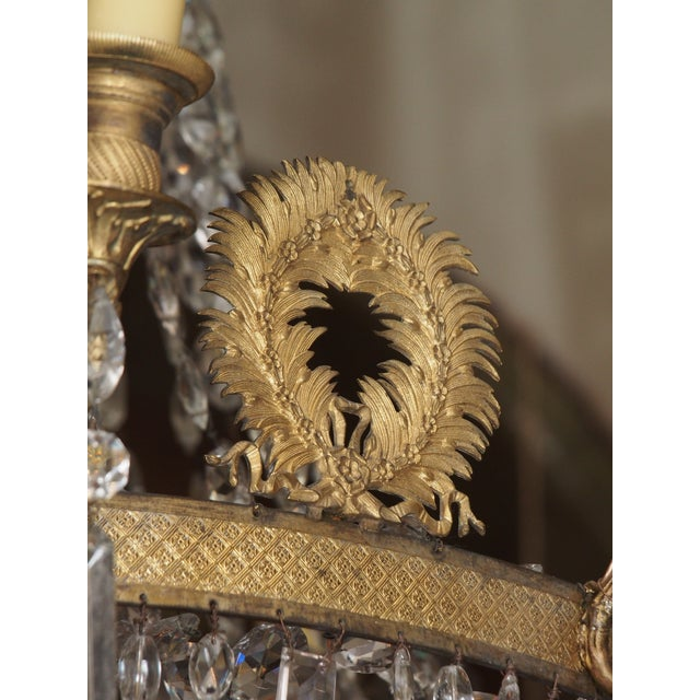 19th Century Empire Crystal Chadelier - Image 8 of 9