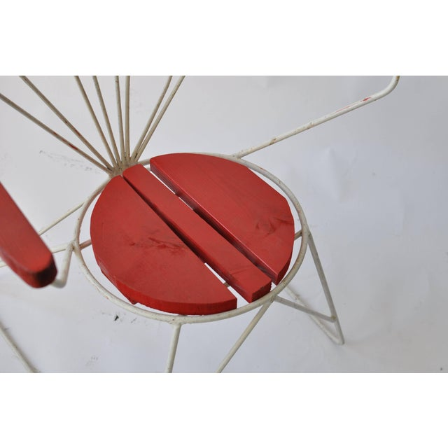 Mid-Century Modern Pair of Swedish Garden Chairs For Sale - Image 3 of 6