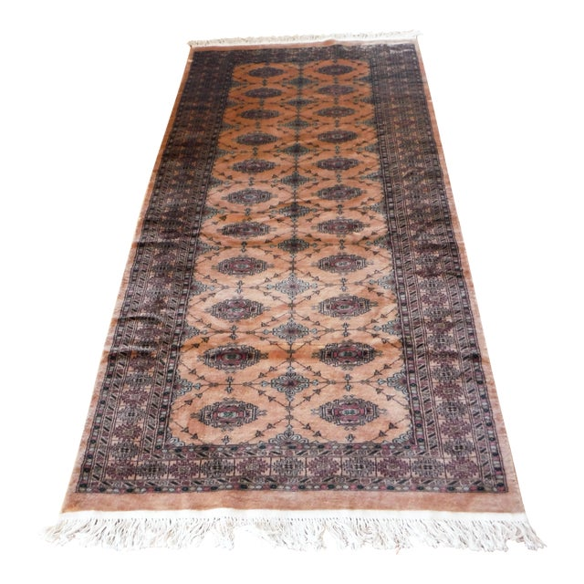 Knotted Persian Oriental Rug - 3′5″ × 8′2″ - Image 1 of 9