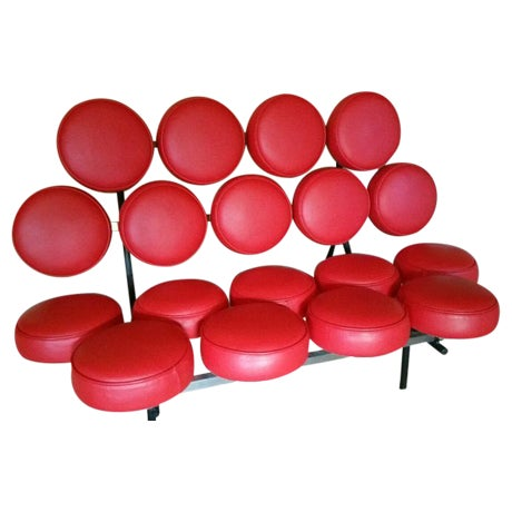 France & Son Red Marshmallow Sofa - Image 1 of 5