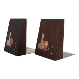 Emaus Bookends, Mid Century Mexican Modernist For Sale