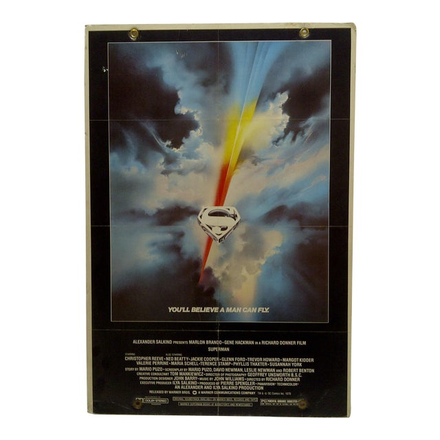 """""""Superman"""" Mounted Movie Poster For Sale"""