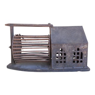Folk Art Squirrel Cage For Sale