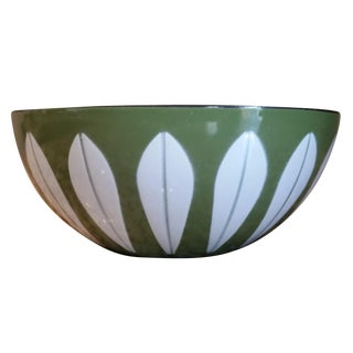 CathrineHolm Vintage Olive Green Lotus Bowl