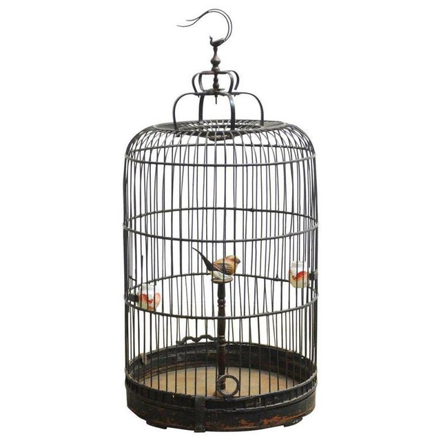 Antique Chinese Domed Bamboo Bird Cage For Sale - Image 11 of 11