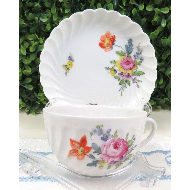 Vintage Nymphenburg Dresden Flowers Tea Cup & Saucer Set - Image 5 of 10