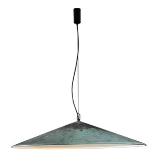 XL Henning Larsen 1 of 2 copper pendants, Denmark, 1960s For Sale