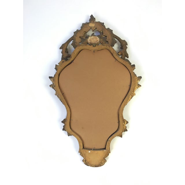 Antique Italian Hand-Carved Gilt Wood Mirror - Image 8 of 10