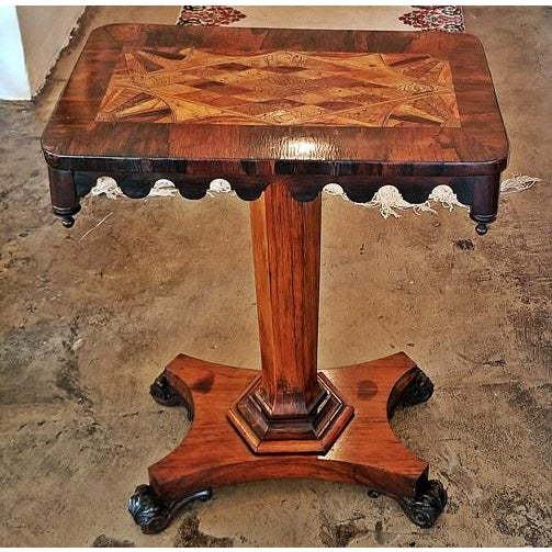 Tan 19c British William IV Colonial Specimen Wood Side Table - Important For Sale - Image 8 of 12