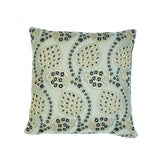 Image of Schumacher Persephone Pillow in Celestial For Sale