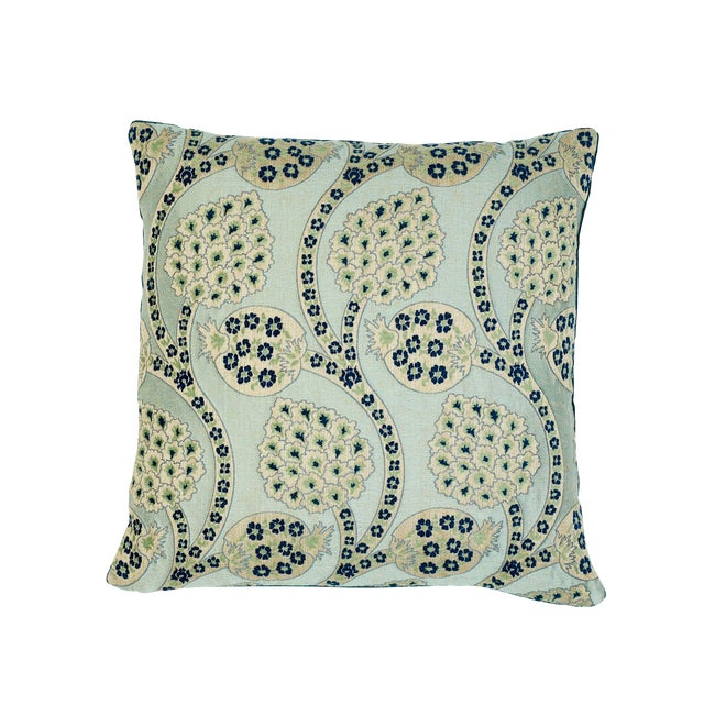 Schumacher Persephone Pillow in Celestial For Sale
