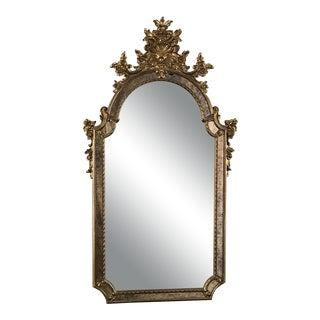 Mid-Century Italian Venetian Gilded Mirror For Sale