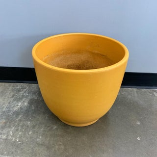 Large Mustard Yellow Gainey Ceramics Planter Preview