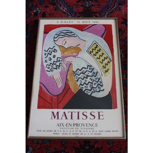Henri Matisse Exhibition Poster ''Matisse Aix-En-Provence'', 1960 by Mourlot For Sale - Image 12 of 12