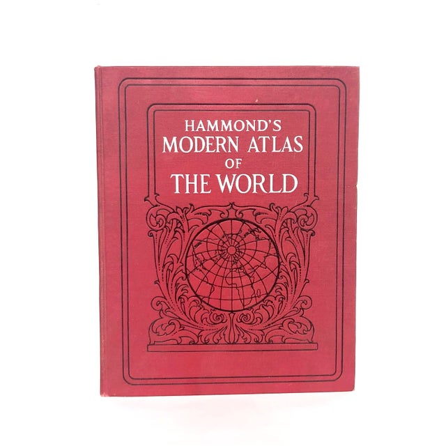 You'll want to display the decorative cover of this vintage world atlas on a coffee table or shelf as an interesting decor...