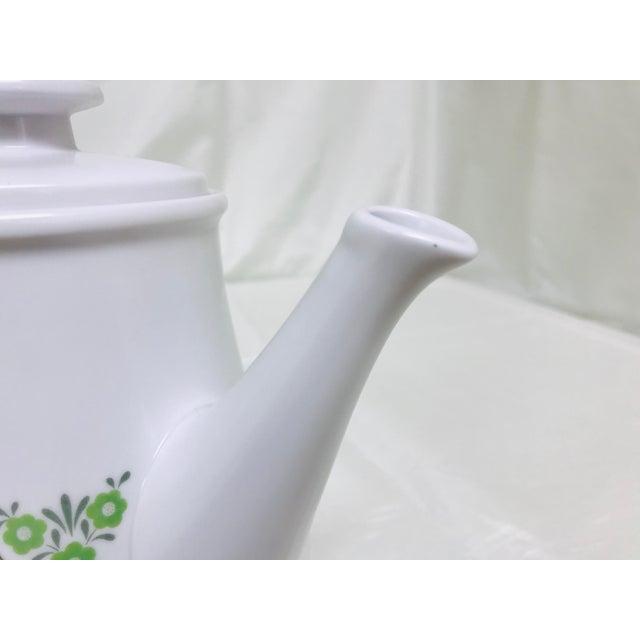 White Vintage Noritake Progression Palos Verde Teapot For Sale - Image 8 of 9