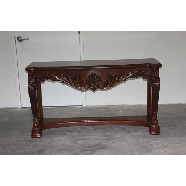 Carved Wood Coffee Table - Image 3 of 6