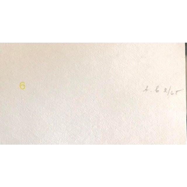 1970s 1970s Geometric #1 Serigraph Signed by Antonio Calderara For Sale - Image 5 of 6