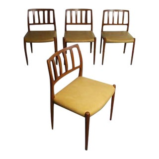 Niels Moller Mid-Century Danish Teak Chairs No. 83 - Set of 4 For Sale