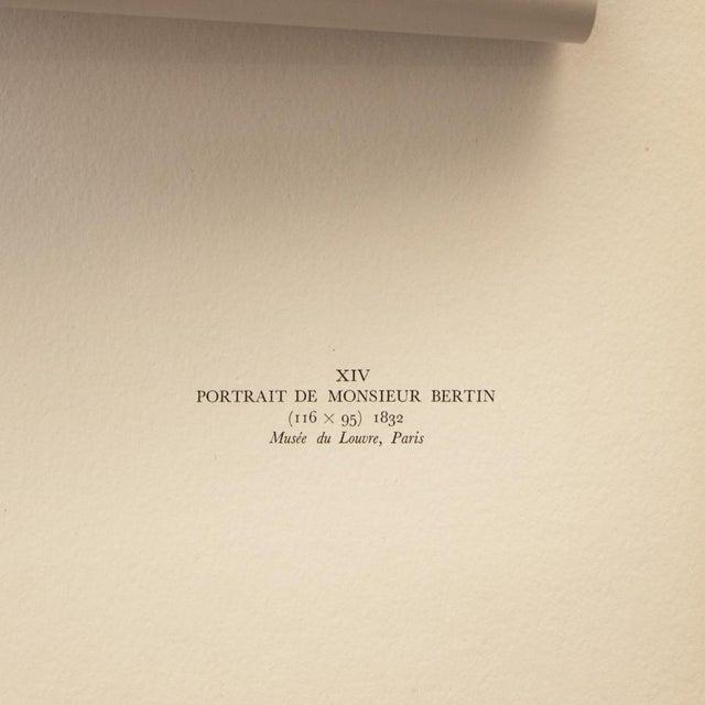 "1951 Ingres ""Monsieur Bertin"", First Edition Neoclassical Parisian Photogravure For Sale - Image 4 of 8"