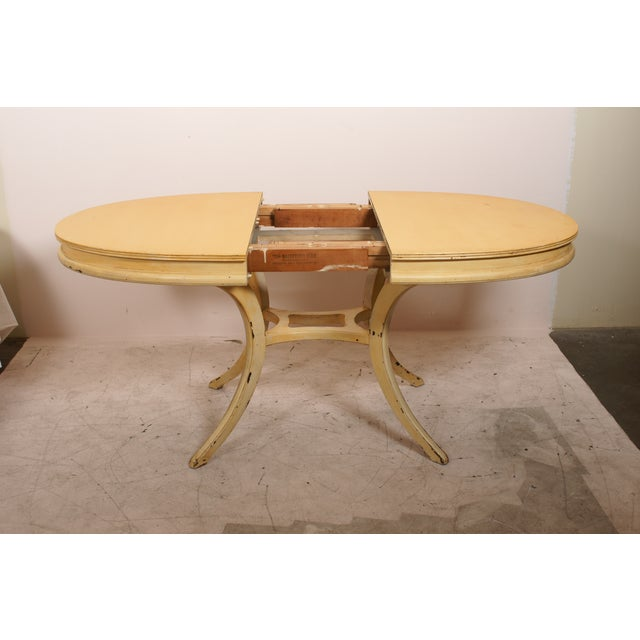 Oval Yellow Kitchen Table - Image 5 of 6