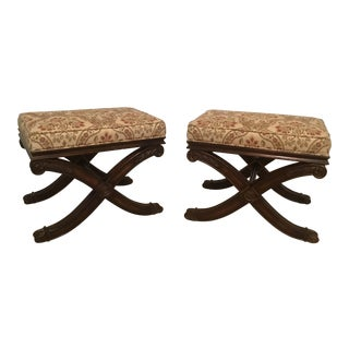 Ethan Allen Alexis Regency Styled Ottoman - a Pair For Sale