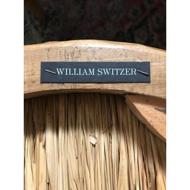 Caning William Switzer Faux Bois Cane and Rush Seat Armchairs For Sale - Image 7 of 13