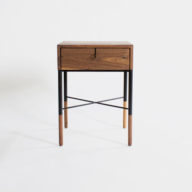 Contemporary Phillip Nightstand and Side Table For Sale - Image 3 of 11