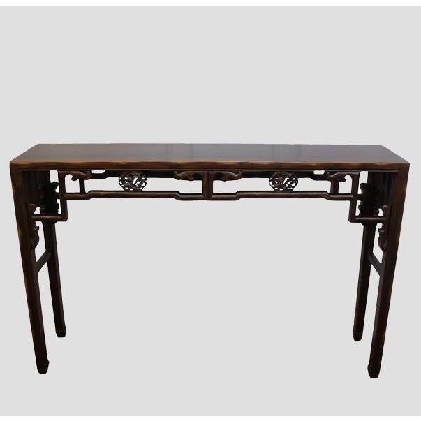 With its intricate and ornate sides and simple elegant legs, this gorgeous console is sure to attract attention in any...