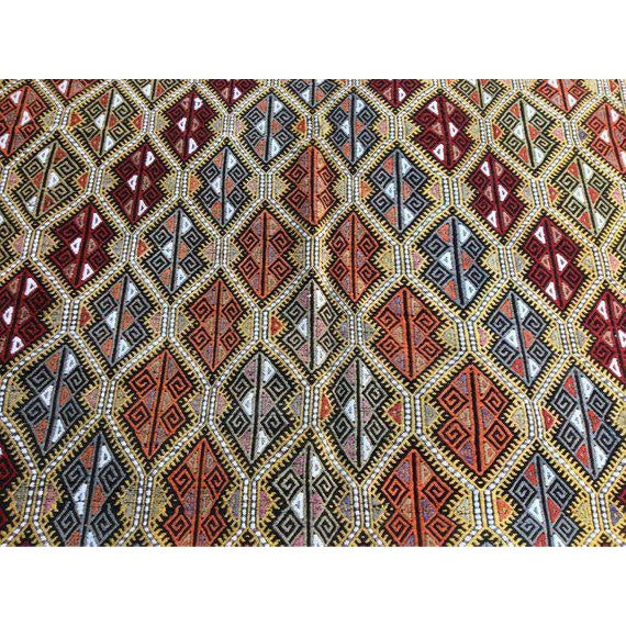 This gorgeous hand-knotted vintage anatolian area rug is approximately 50 years old in excellent vintage condition. The...