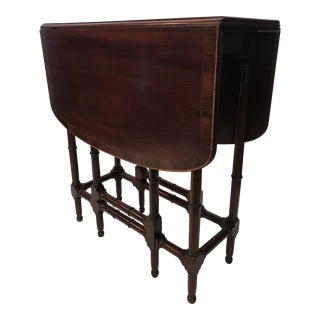 19th Century Faux Bamboo Gate Leg Table For Sale