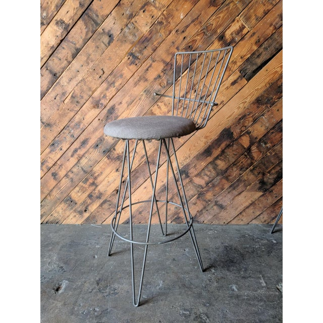 Mid Century 1950's Atomic Barstools For Sale - Image 4 of 8