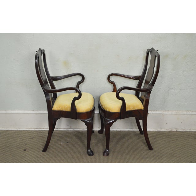 Hickory Chair Co. Set of 6 Mahogany Queen Anne Style Dining Chairs - Image 6 of 10