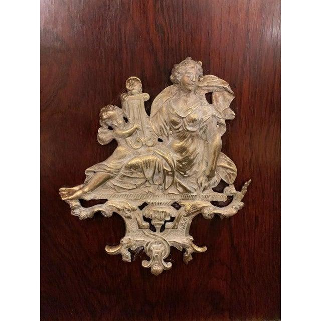 19th Century Empire Bronze Mounted Antique Davenport Desk For Sale - Image 9 of 13