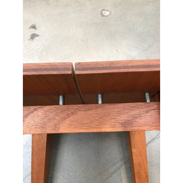 Wood Rob Edley Welborn Designed Prototype Bench or Stool For Sale - Image 7 of 9