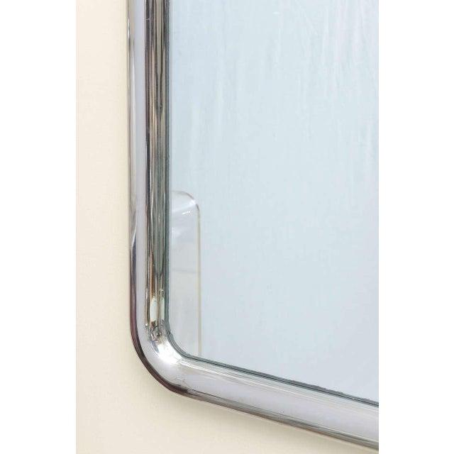 Modern Modernist Steel Mirror For Sale - Image 3 of 9