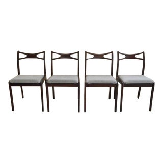Mid Century Modern Danish Rosewood Dining Chairs- Set of 4 For Sale