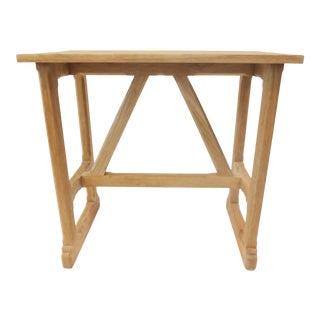 Rustic Craftsman Style Trestle Console, Small by Martin and Brockett For Sale