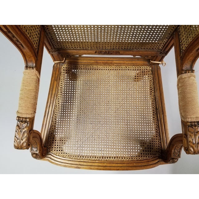 Circa 1910 Pair of French Louis XVI Style Armchairs For Sale - Image 10 of 13