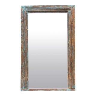 Antique Architectural Chandan Floor Mirror For Sale
