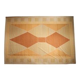 """Vintage Contemporary Kilim Carpet - 12'4"""" X 18' For Sale"""