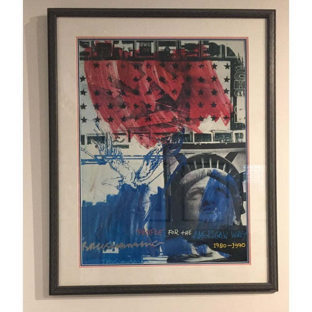 """People for the American Way"" Rauschenberg Signed Print For Sale - Image 10 of 11"