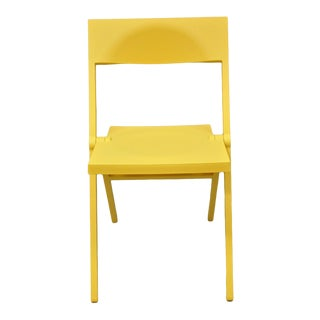 David Chipperfield for Alessi Yellow Folding Piana Side Chair For Sale