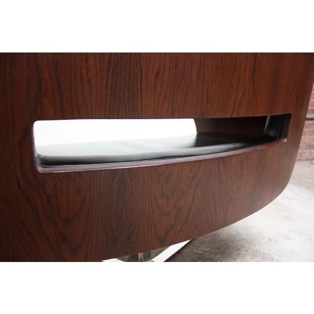 Brazilian Modern Jacaranda and Leather Swiveling Lounge Chair by Jorge Zalszupin For Sale - Image 11 of 13