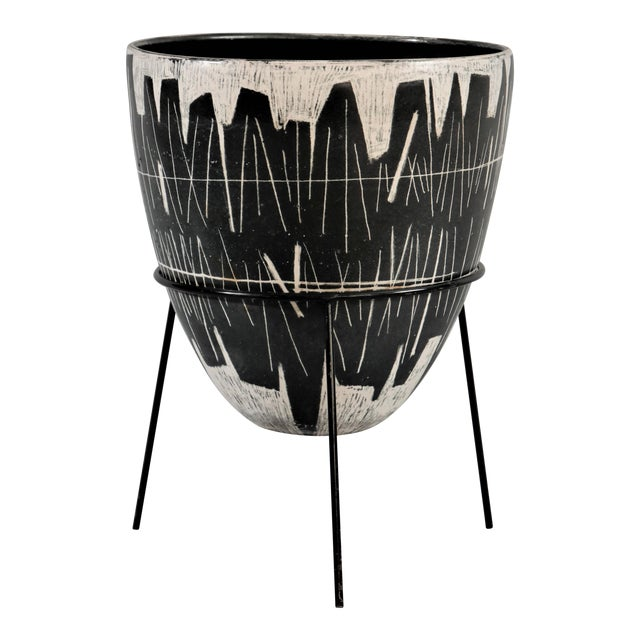 Victor Cerrato Glazed Ceramic Vase For Sale