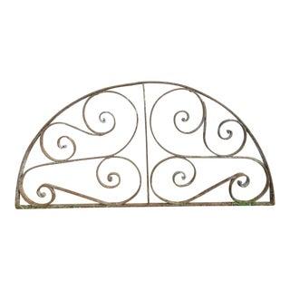 Antique Victorian Iron Demilune Garden Gate Window Element # 828 For Sale